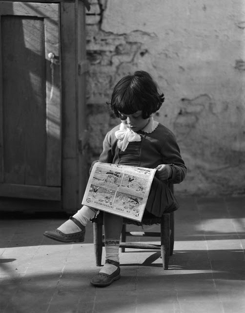 Serious reader 1930s Arissa